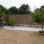 Inicio instalación de malla geotextil