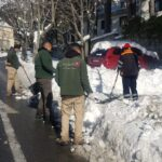 Retirada de nieve en entrada de viviendas y jardines. (1)